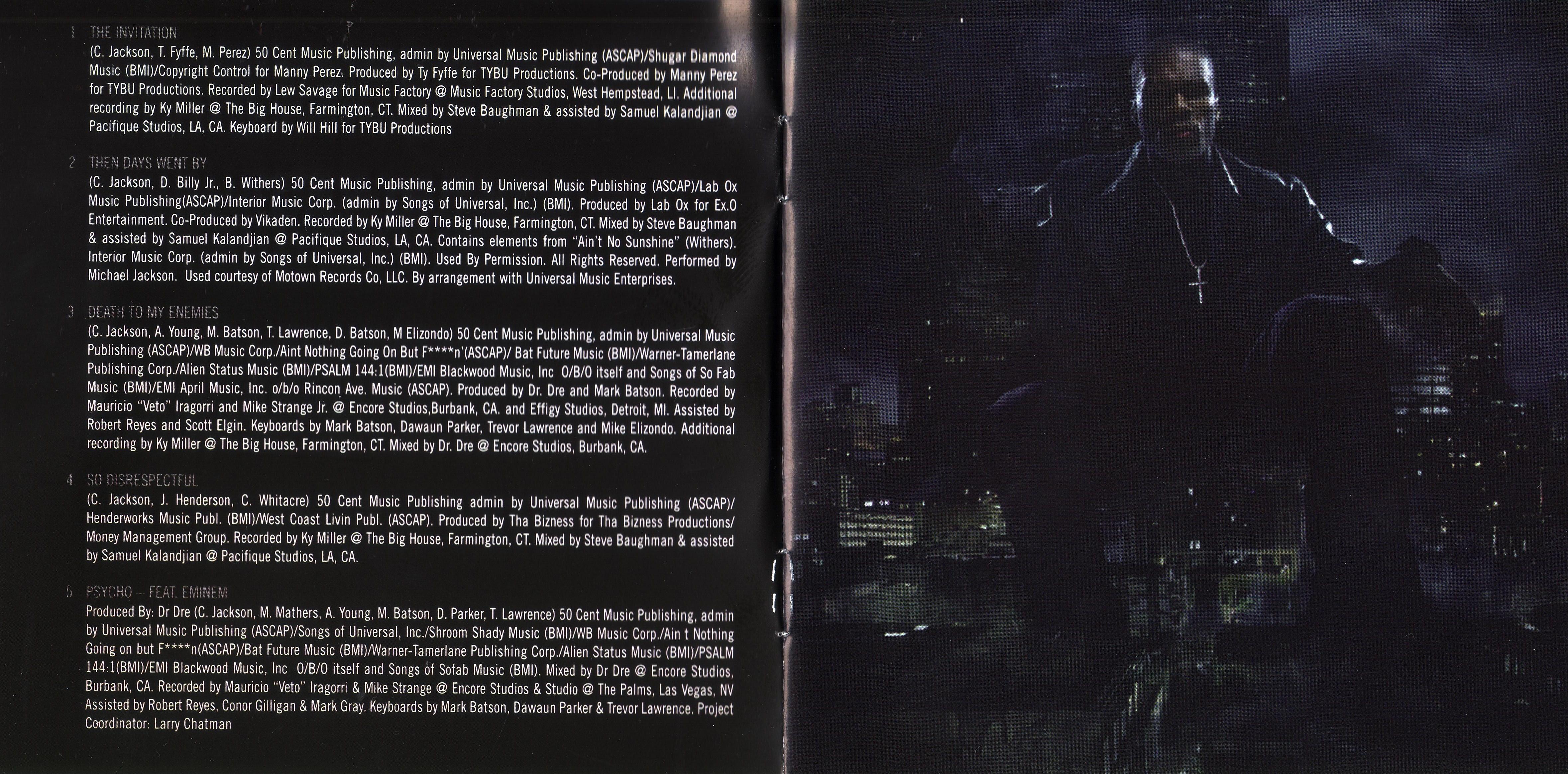 Copertina cd 50 Cent - Before I Self Destruct - Booklet (2 ...
