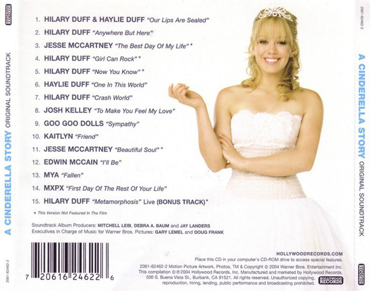 A Cinderella Story - Soundtrack - Back