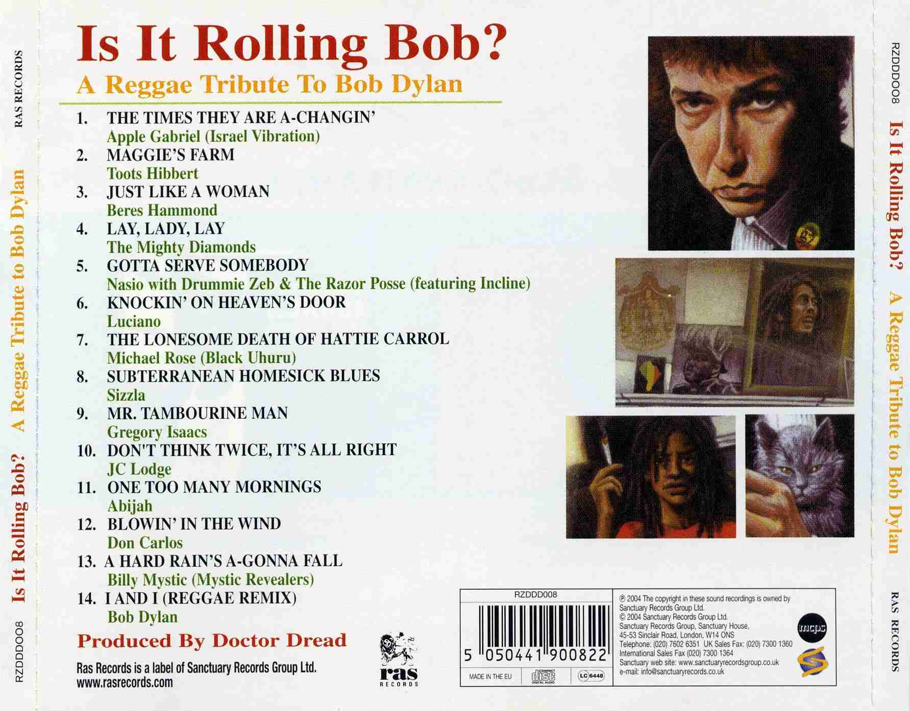 A Reggae Tribute To Bob Dylan - Is It Rolling Bob - Back