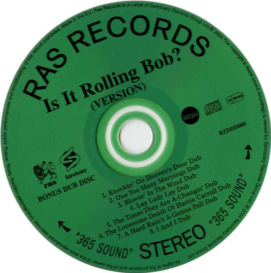 A Reggae Tribute To Bob Dylan - Is It Rolling Bob - CD (1-2)