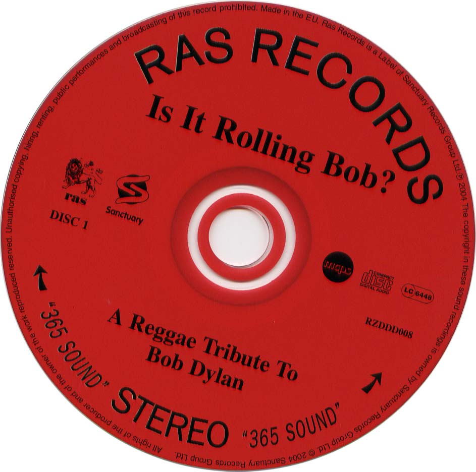 A Reggae Tribute To Bob Dylan - Is It Rolling Bob - CD (2-2)