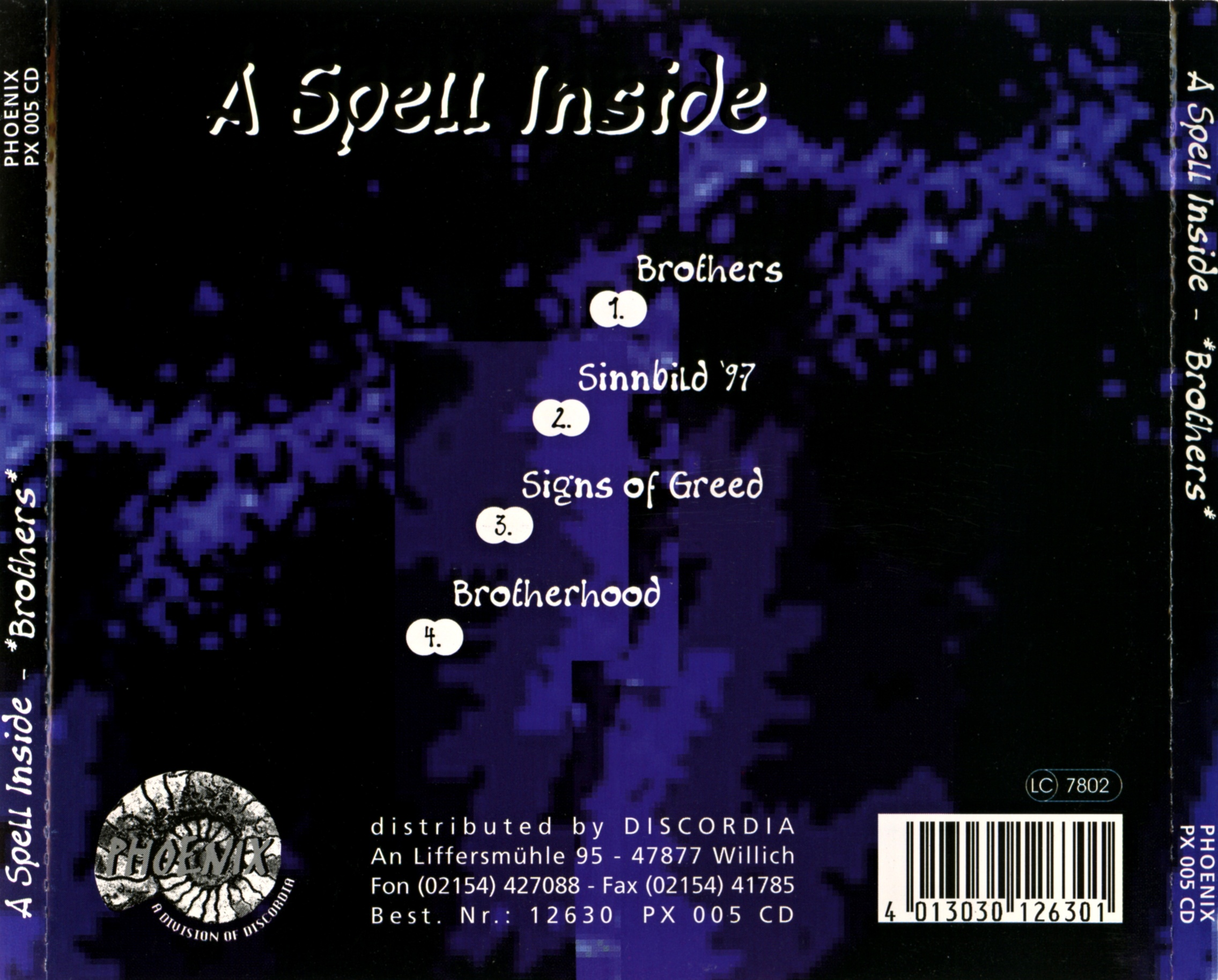 A Spell Inside - Brothers - Back