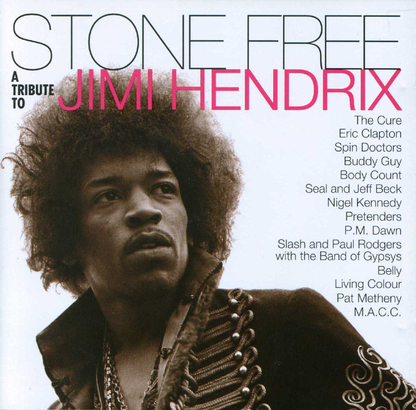 A Tribute To Jimi Hendrix - Stone Free - Front (2-2)