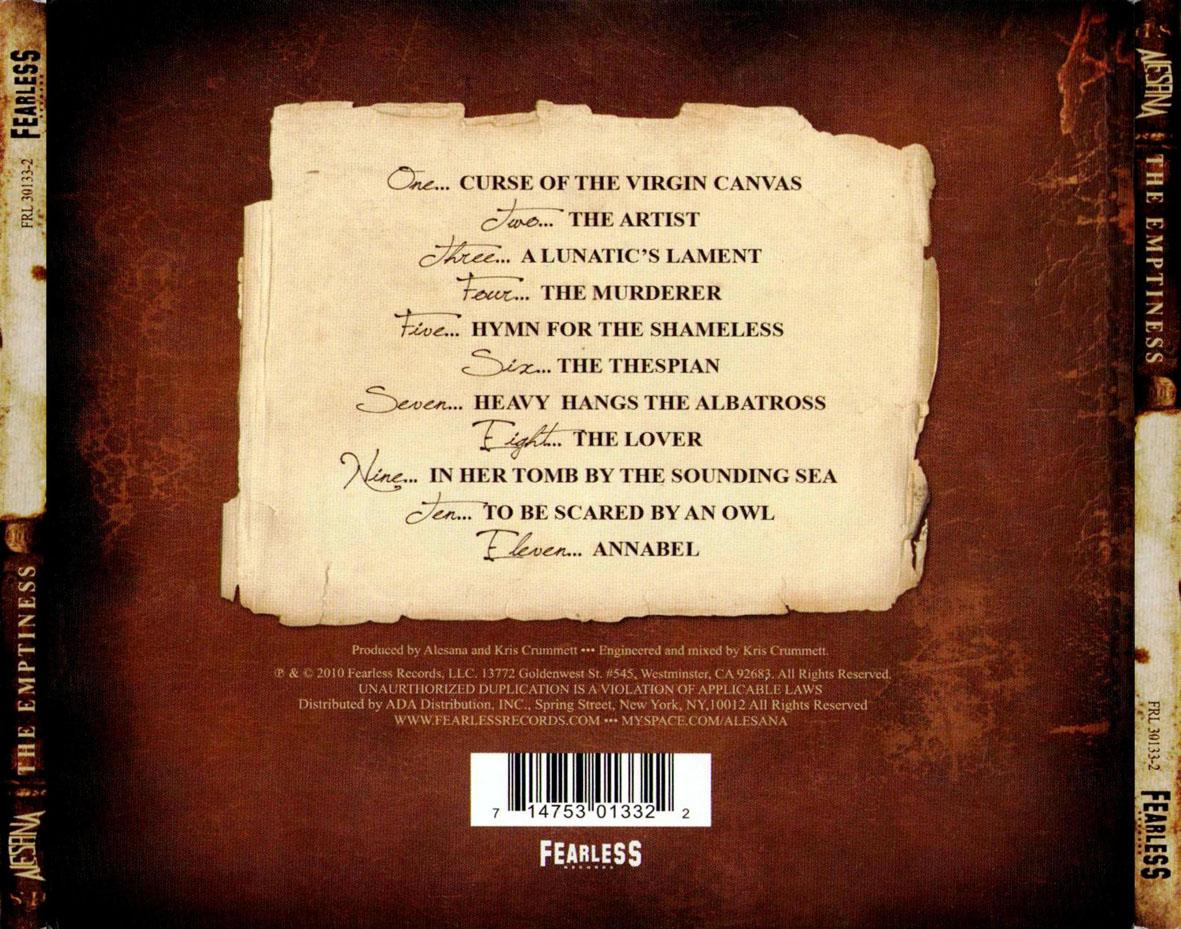 Alesana the emptiness album cover