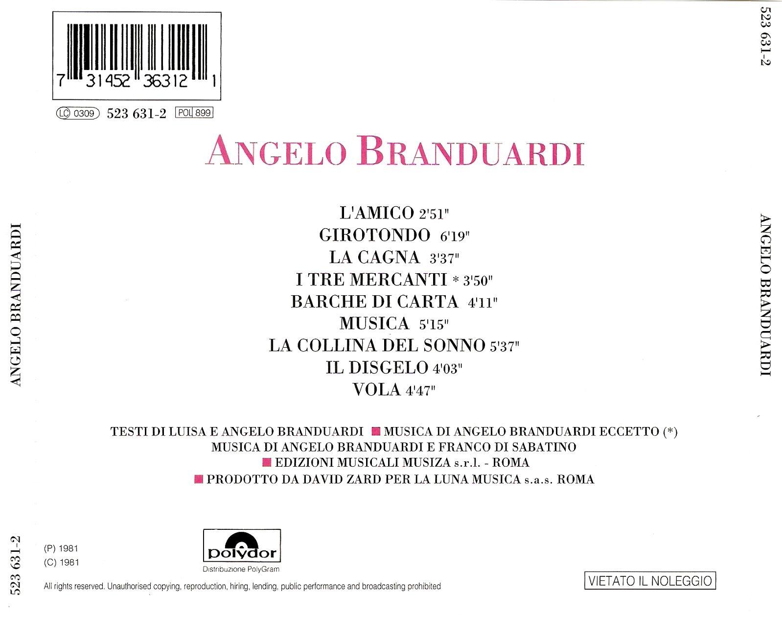 Angelo Branduardi Best of Angelo Branduardi Angelo