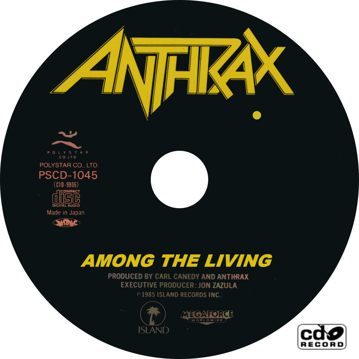 Copertina cd Anthrax - Among The Living - CD, cover cd ...