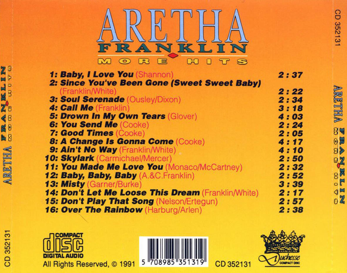 Aretha Franklin - More Hits - Back