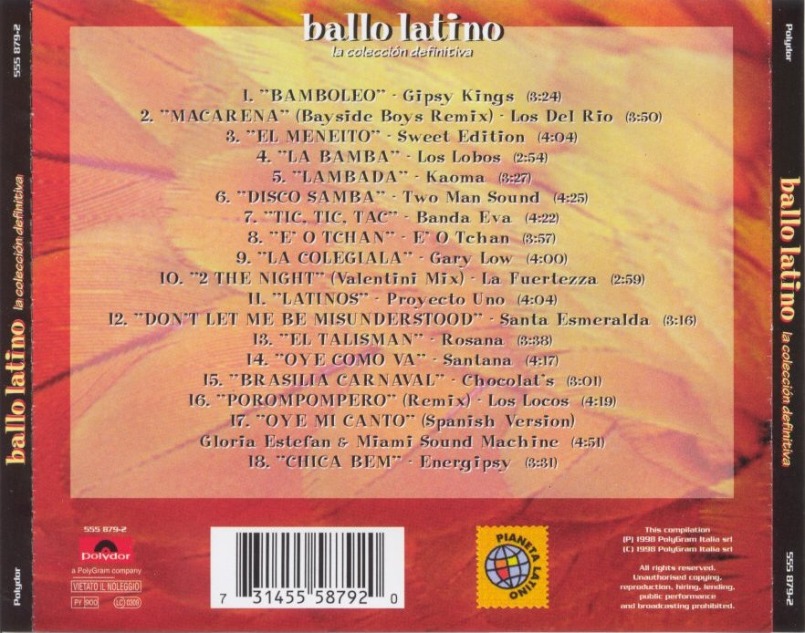 Ballo latino - back