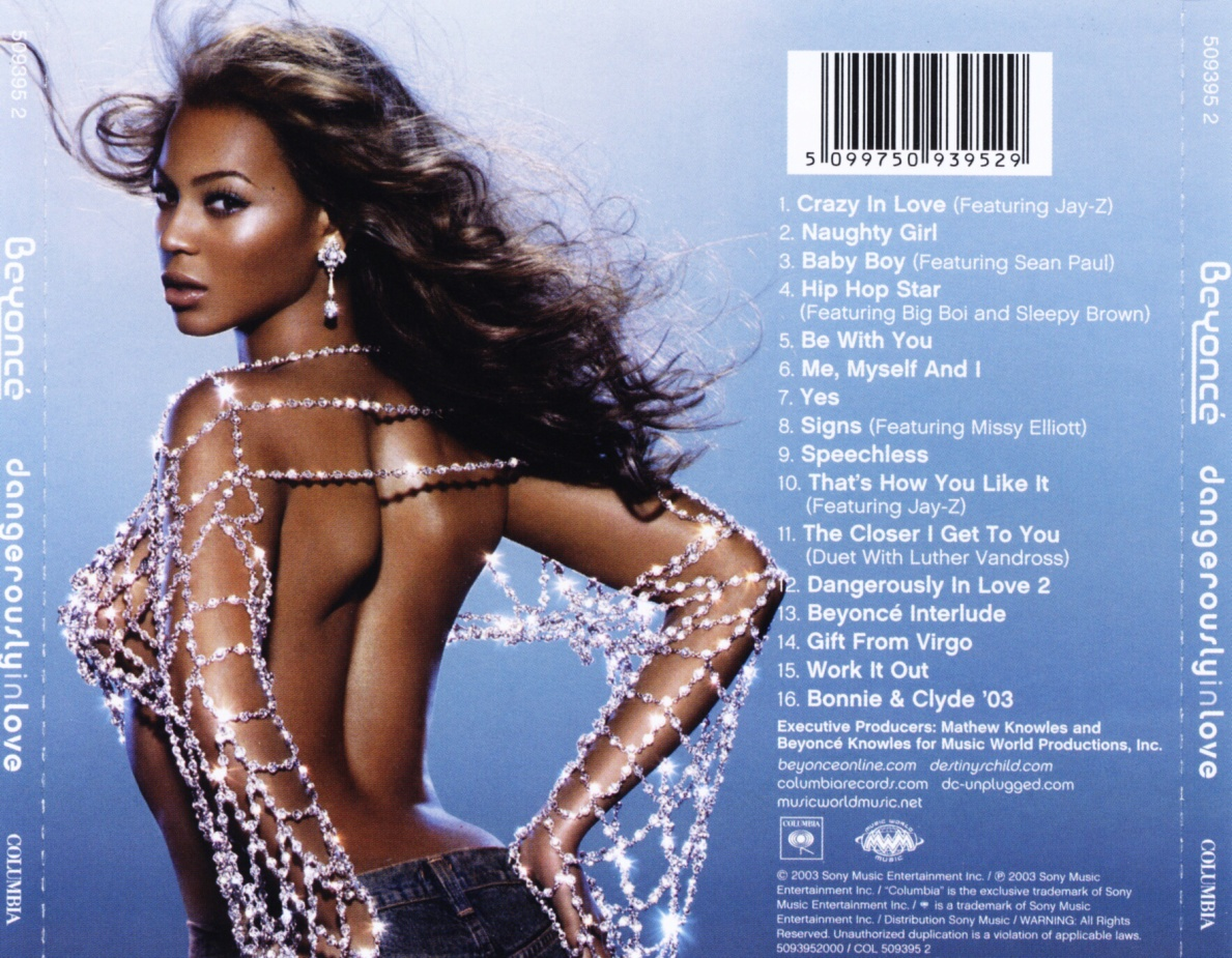 Beyonce - Dangerously In Love - Back