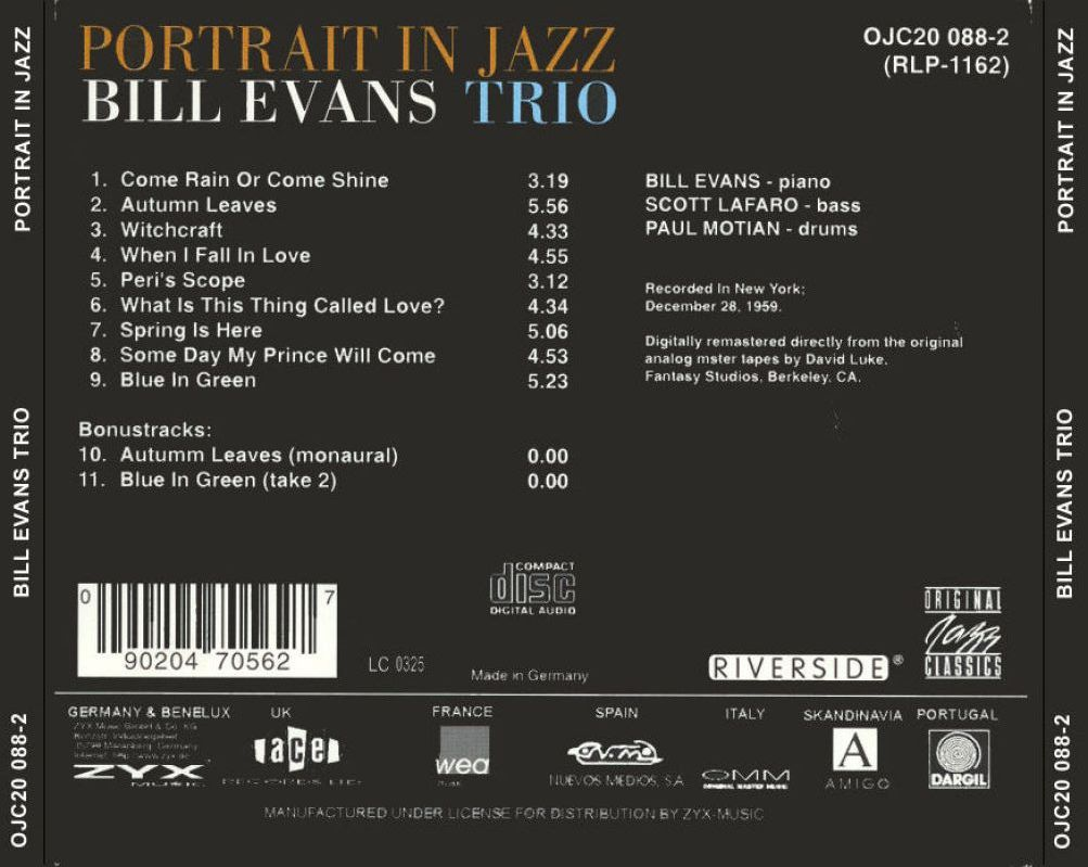 Bill Evans - The Best Of Bill Evans On Verve
