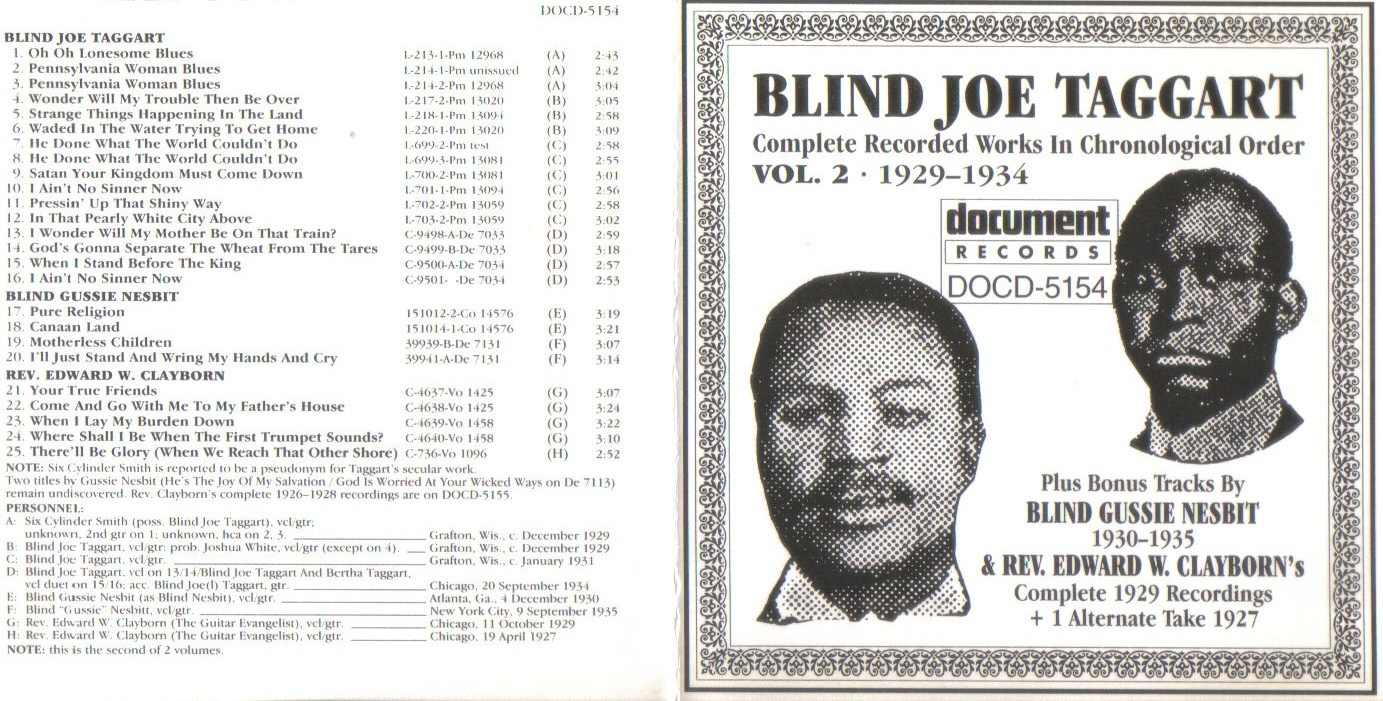 Blind Joe Taggart - Complete Recorded... Vol.02 - Booklet (1-2)