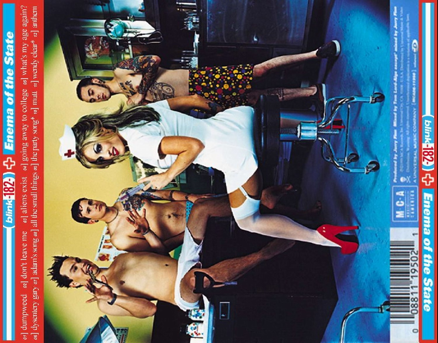 Copertina cd Blink 182 - enema of the state - ba