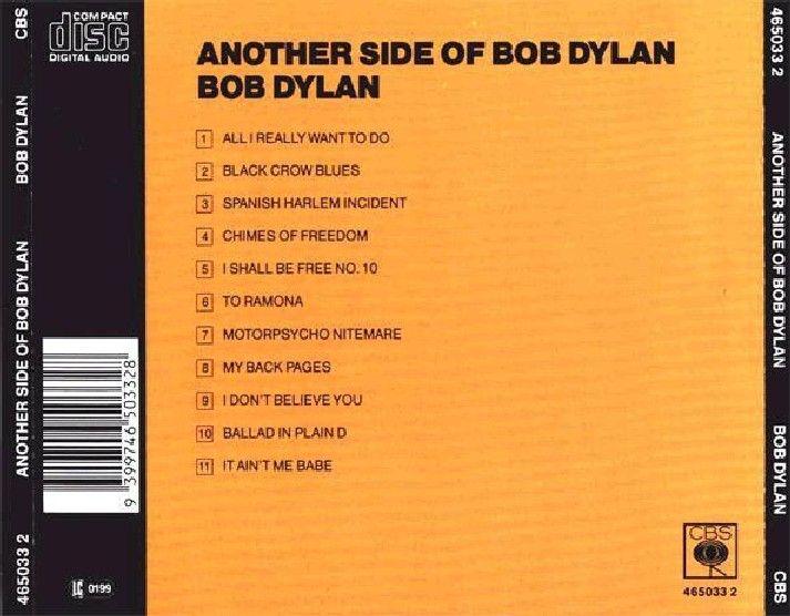 Bob Dylan - Another Side Of Bob Dylan - Back