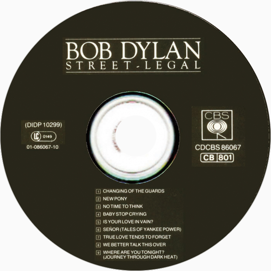 Copertina cd Bob Dylan - Street Legal - CD, cover cd Bob Dylan ...