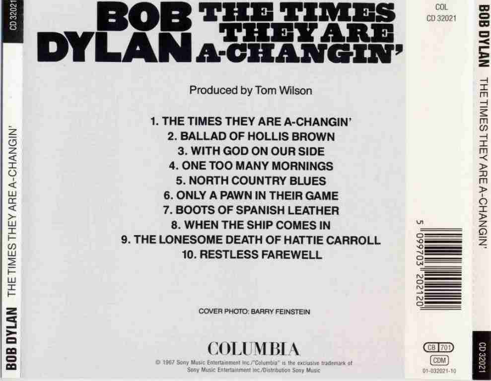 bob dylan the times they are a changin essay