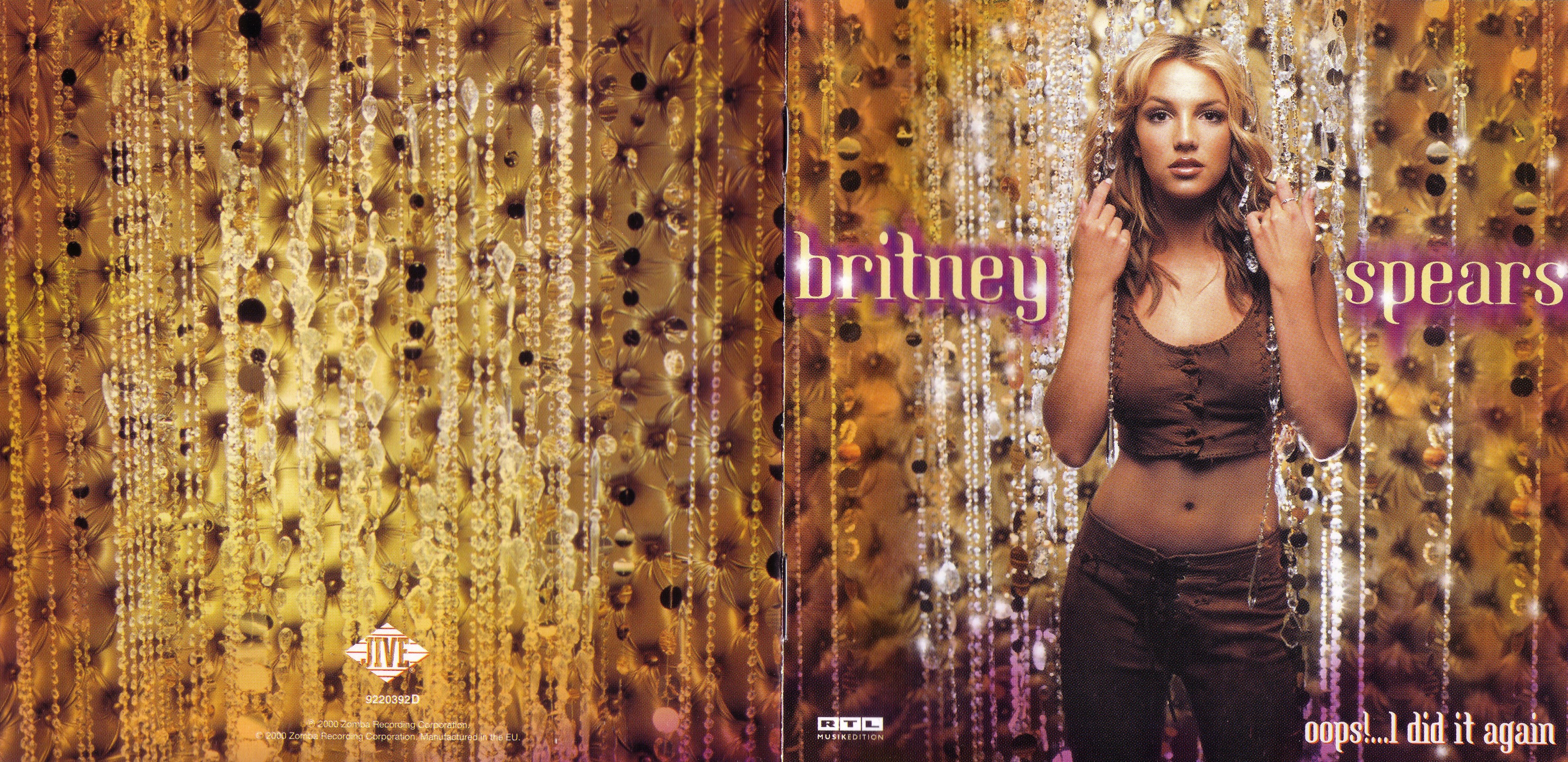 Copertina cd britney spears oops i did it again booklet 1 8