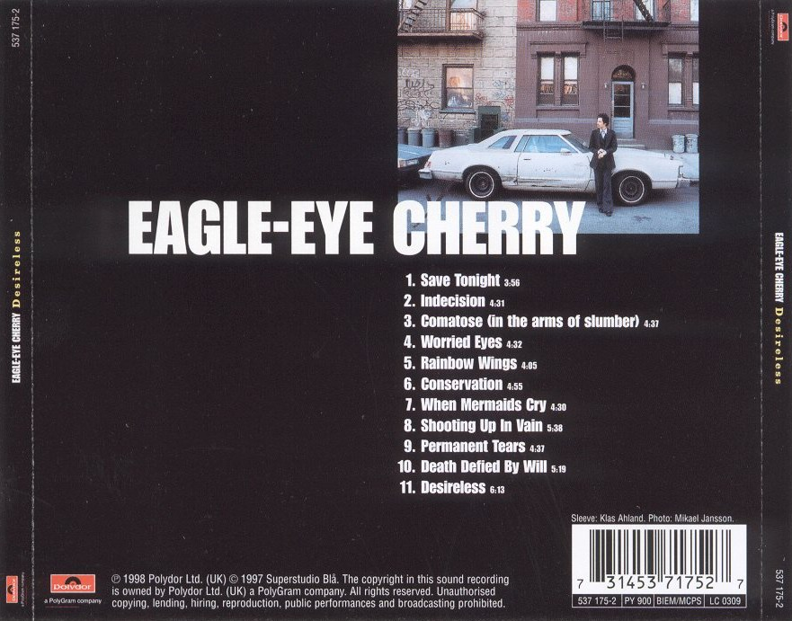 Eagle - eye cherry - desireless - back