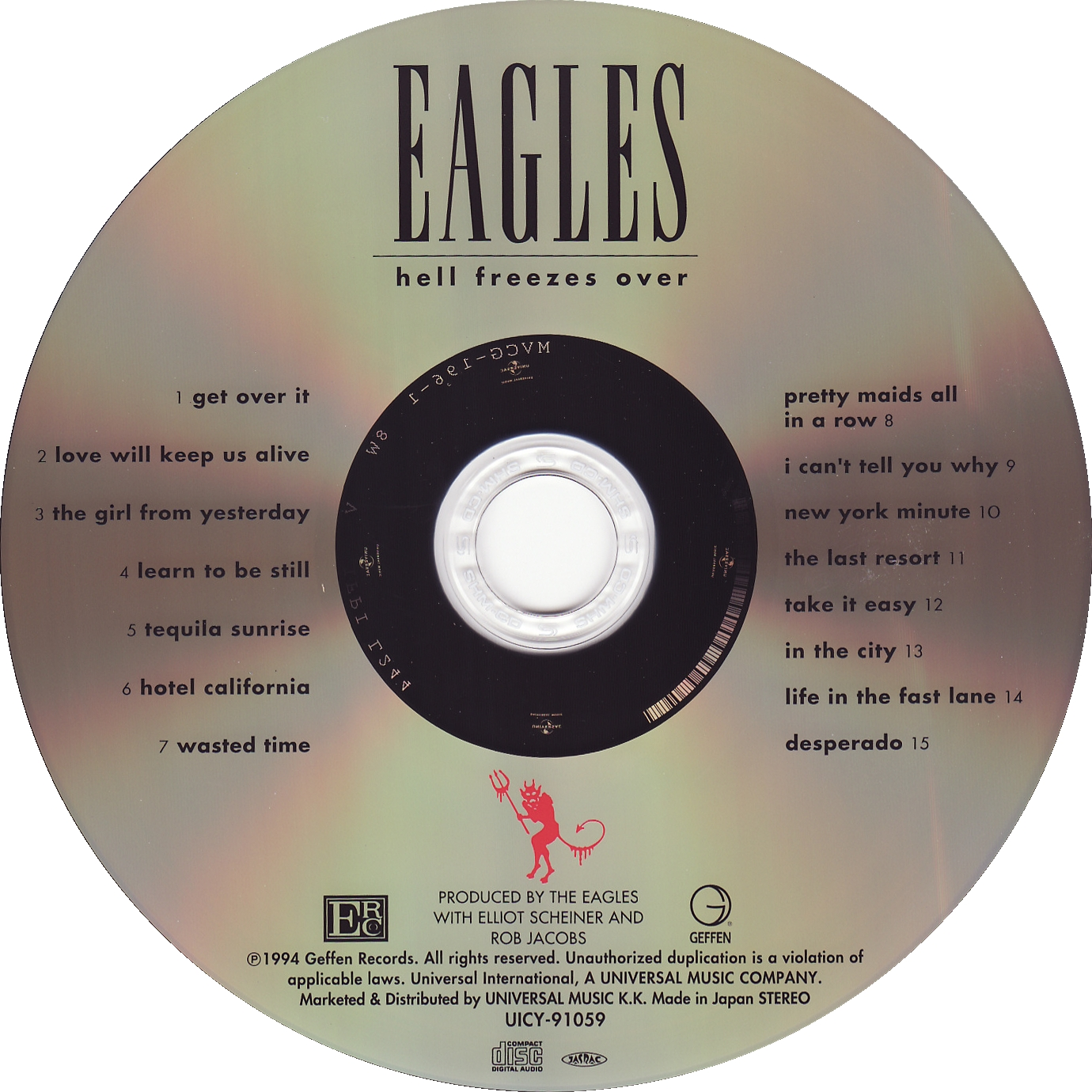 Eagles - Hell Freezes Over (Jap Edition) - CD