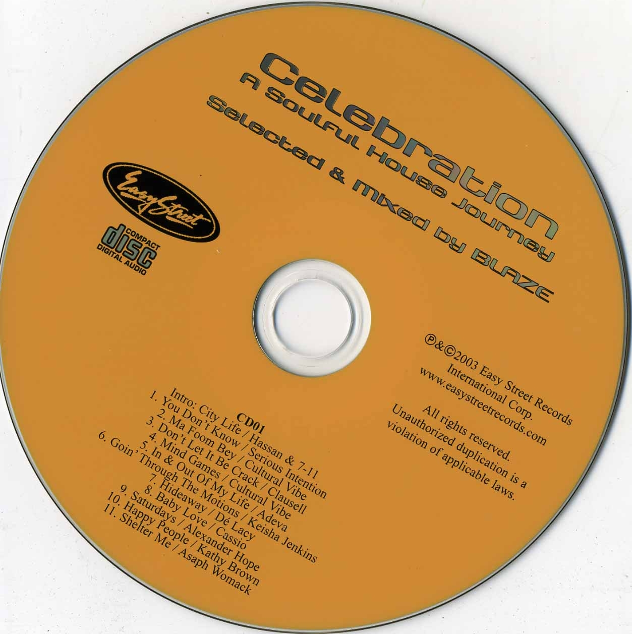 Easy Street Dance Classics - Celebration A Soulful House Journey - CD (1-2)