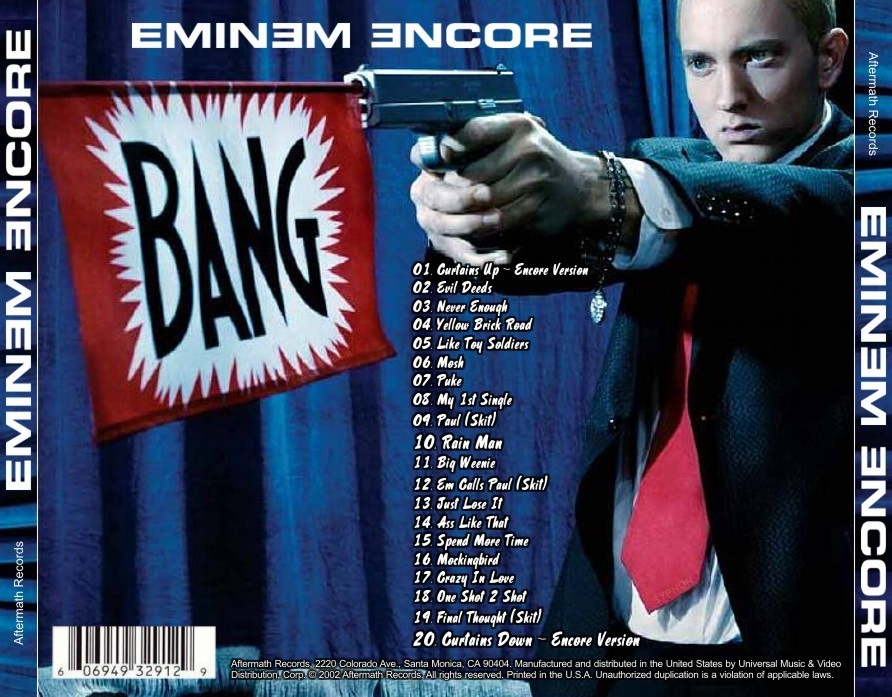Copertina cd Eminem - Encore - Back, cover cd Eminem ...