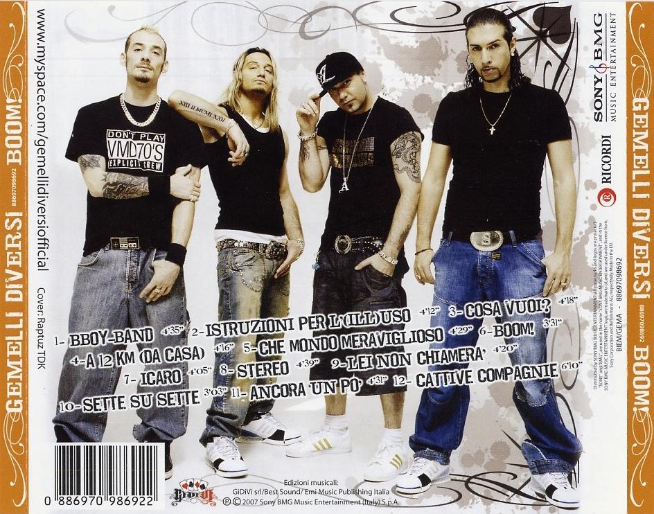 Scarica la copertina cd gemelli diversi boom back - Boom gemelli diversi ...