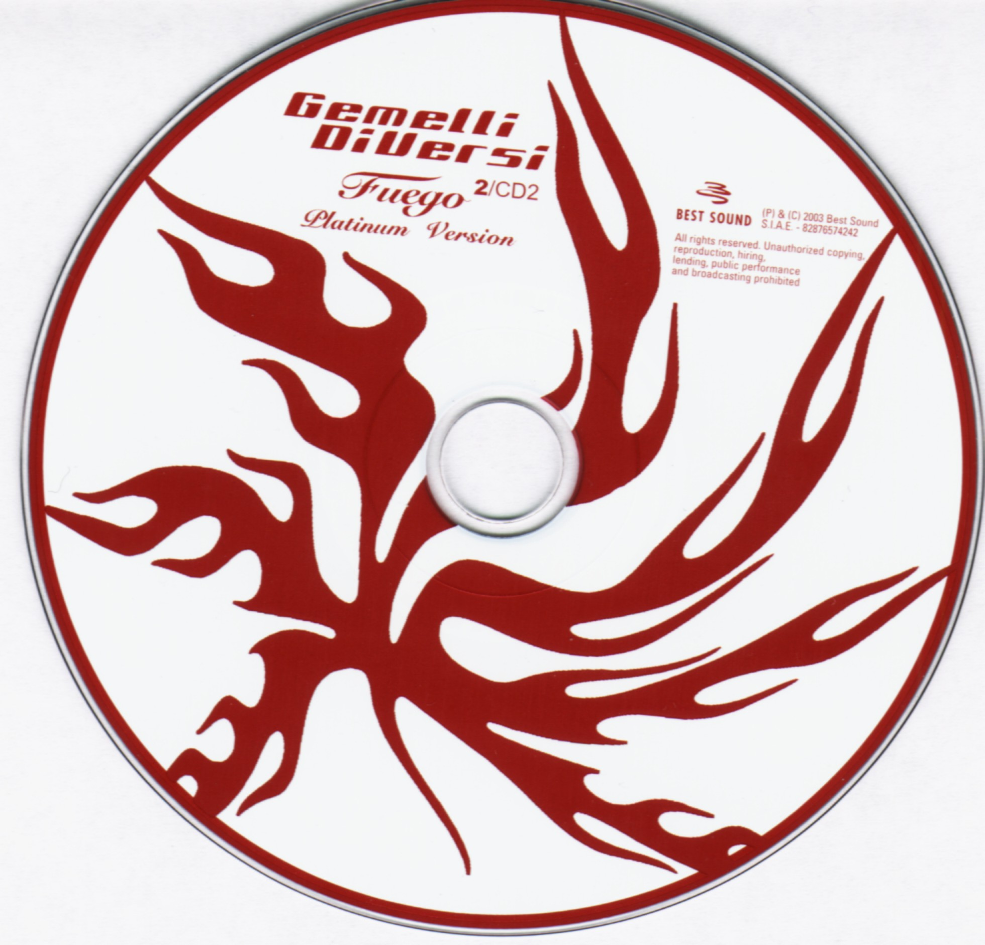 Copertina cd gemelli diversi fuego 2 cd 1 2 cover cd gemelli diversi fuego 2 cd 1 2 - 2 gemelli diversi ...