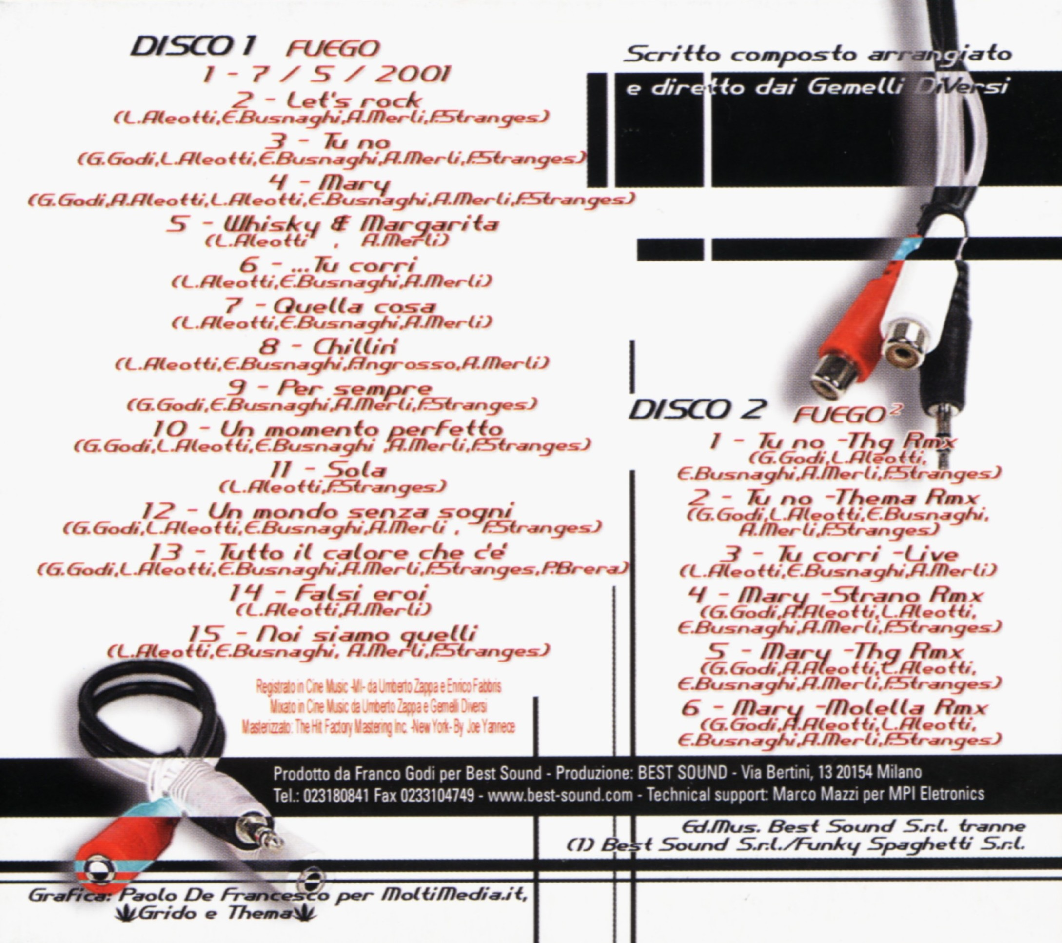 Scarica la copertina cd gemelli diversi fuego 2 inside scarica la cover cd gemelli diversi - 2 gemelli diversi ...