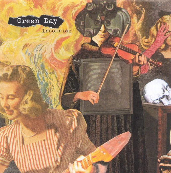 Copertina cd Green day - insomniac - front, cover cd Green ...