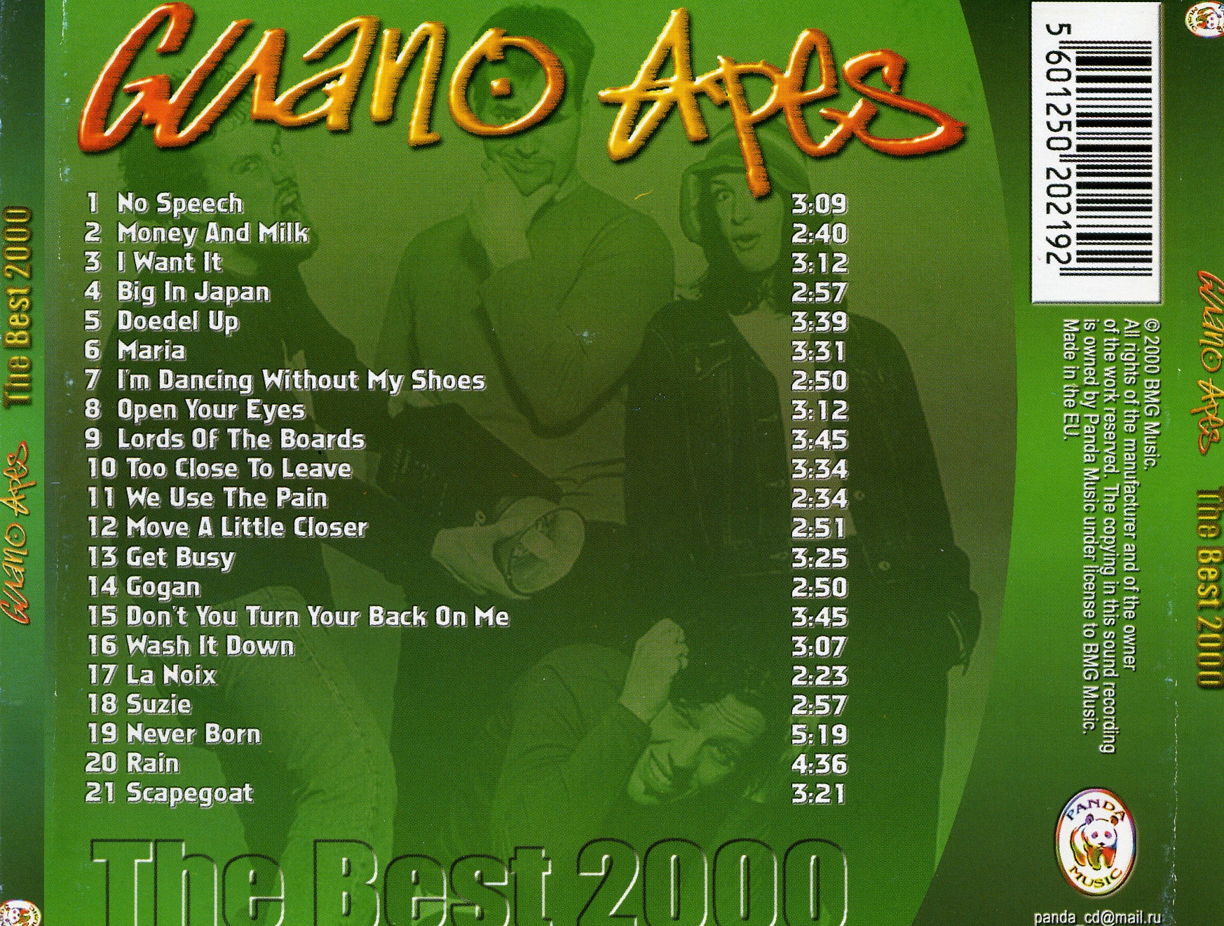 Guano Apes - The Best 2000 - Back