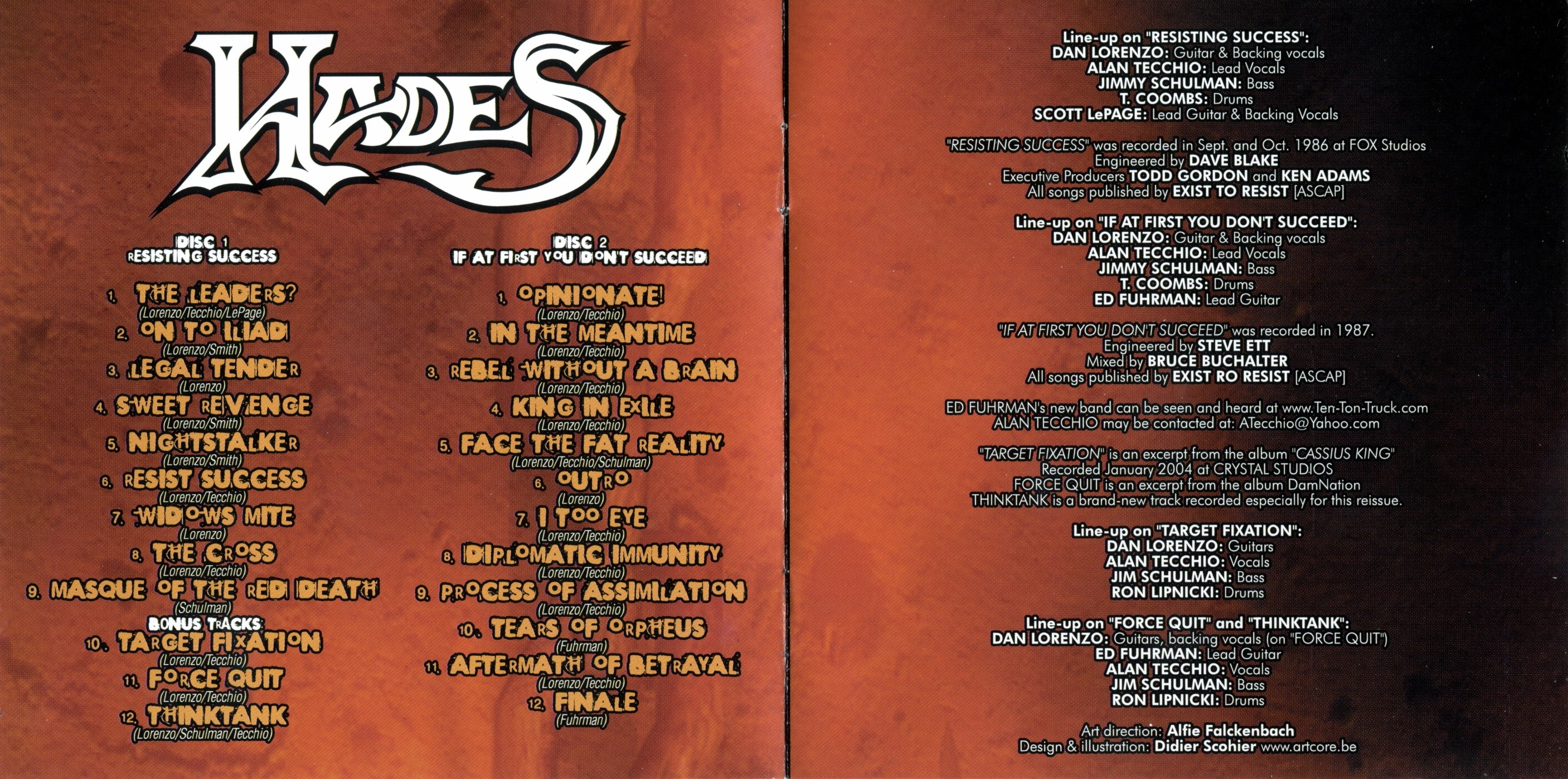 Hades - Nothing Succeeds Like Succees - Booklet (2-4)