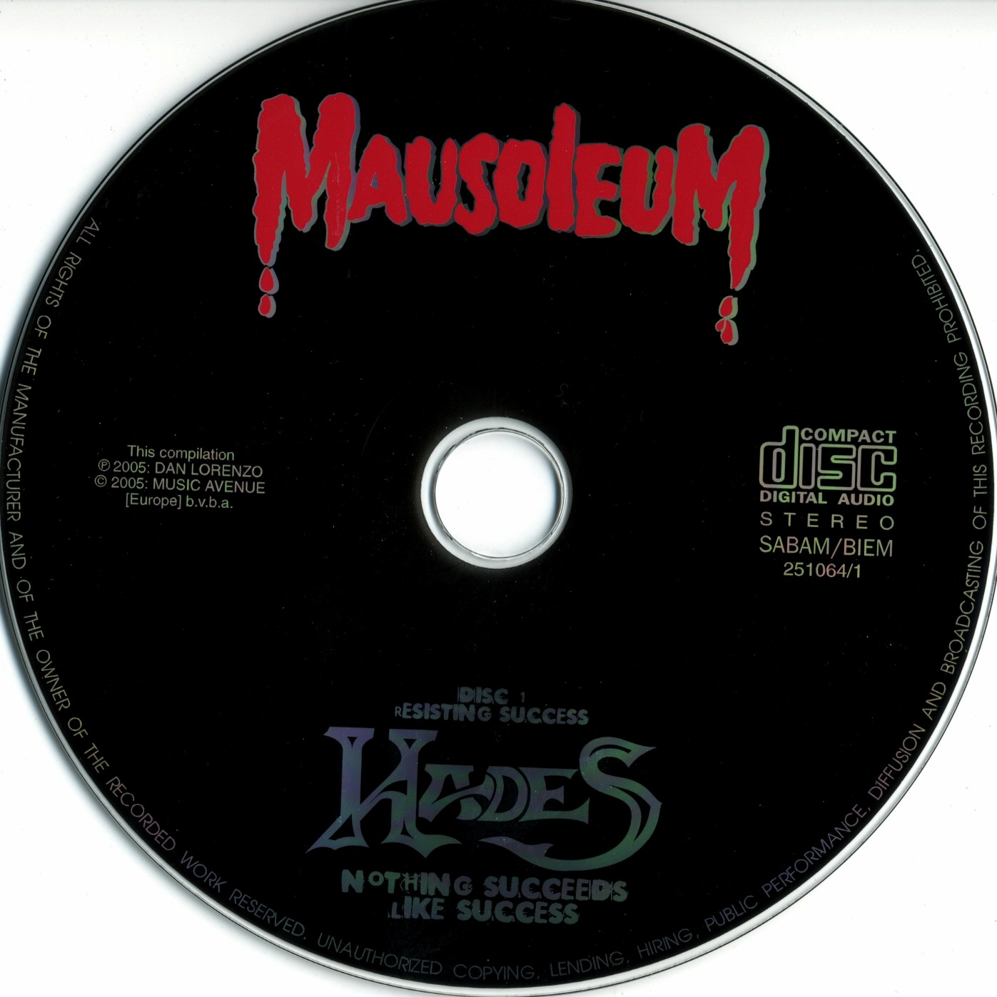 Hades - Nothing Succeeds Like Succees - CD (1-2)