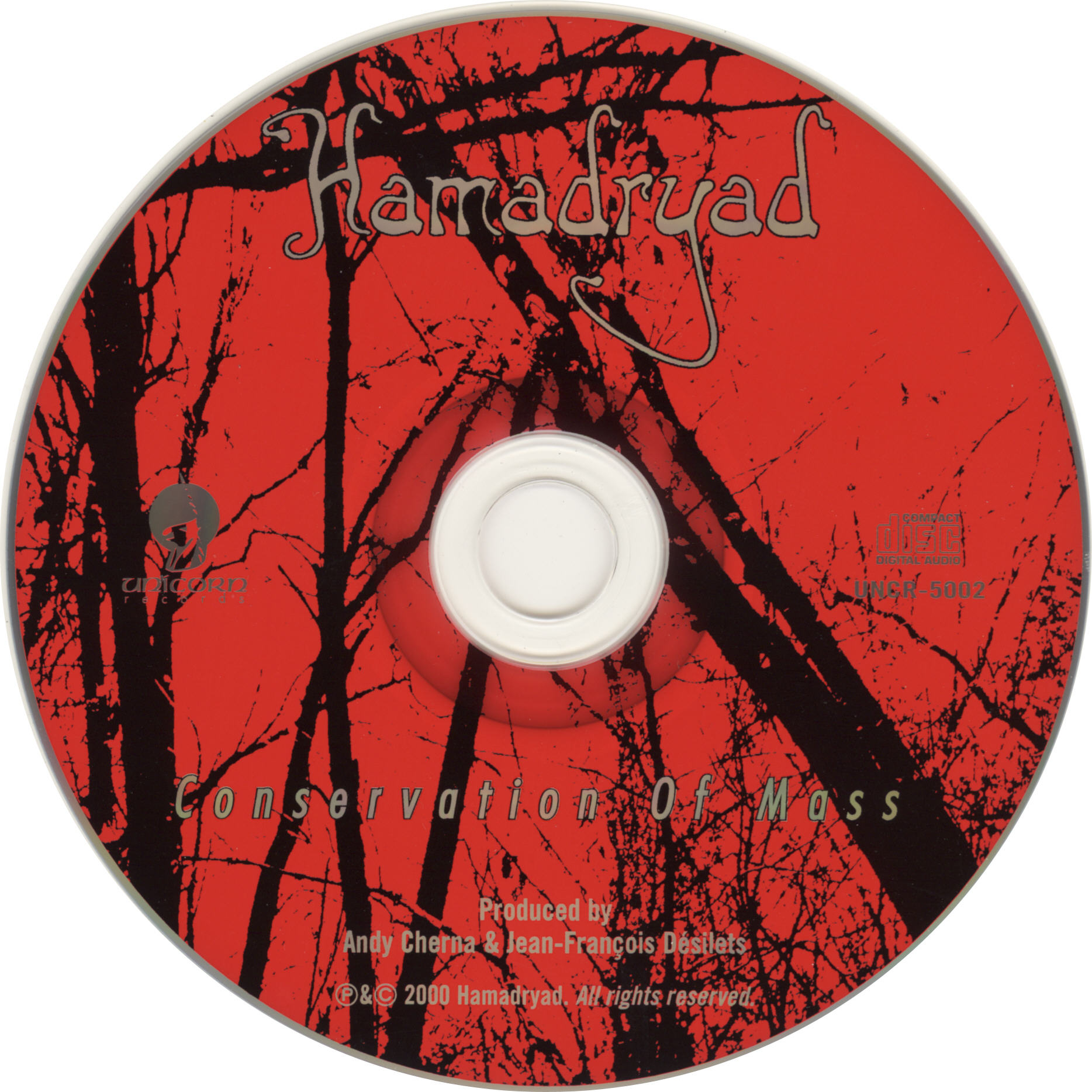 Hamadryad - Conservation Of Mass - CD