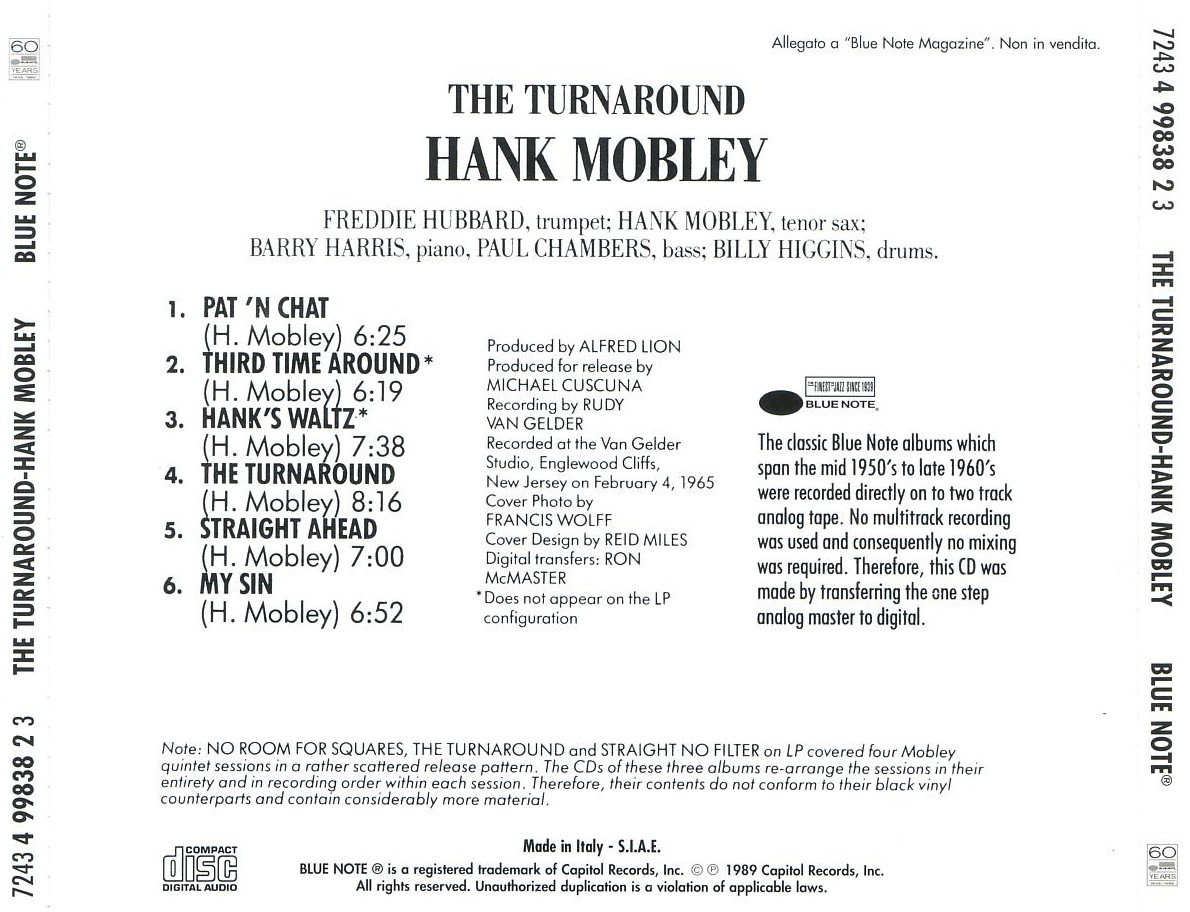 Hank mobley - the turnaround - back