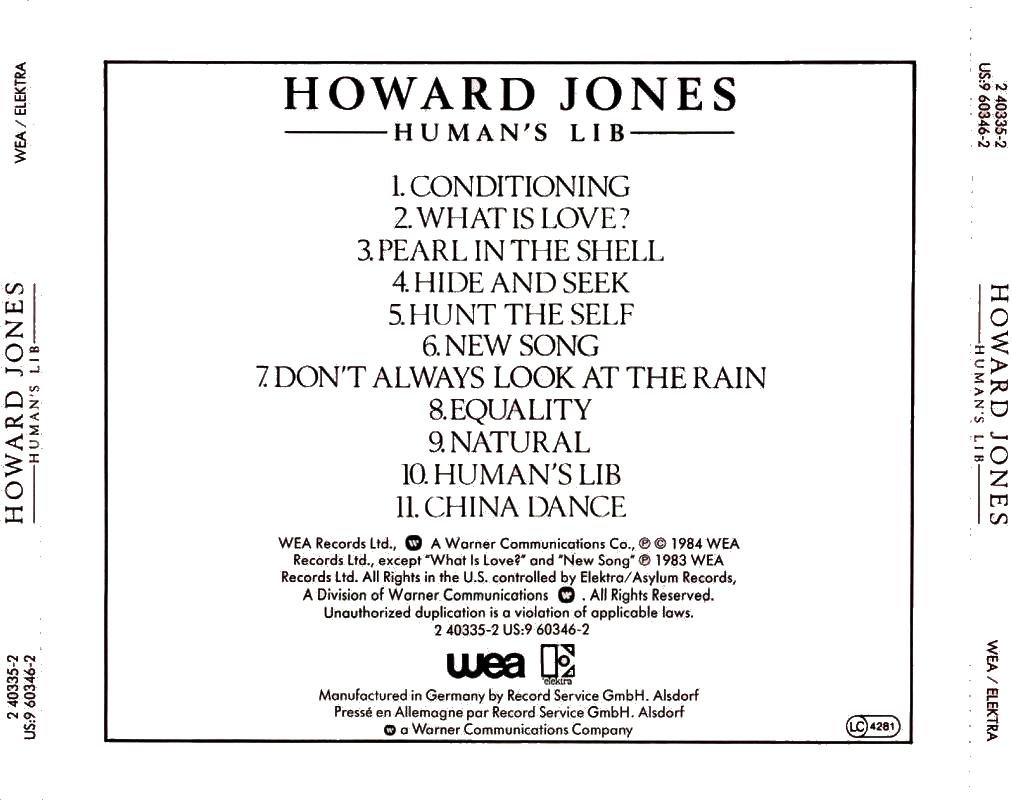Howard Jones - Human's Lib - Dream Into Action
