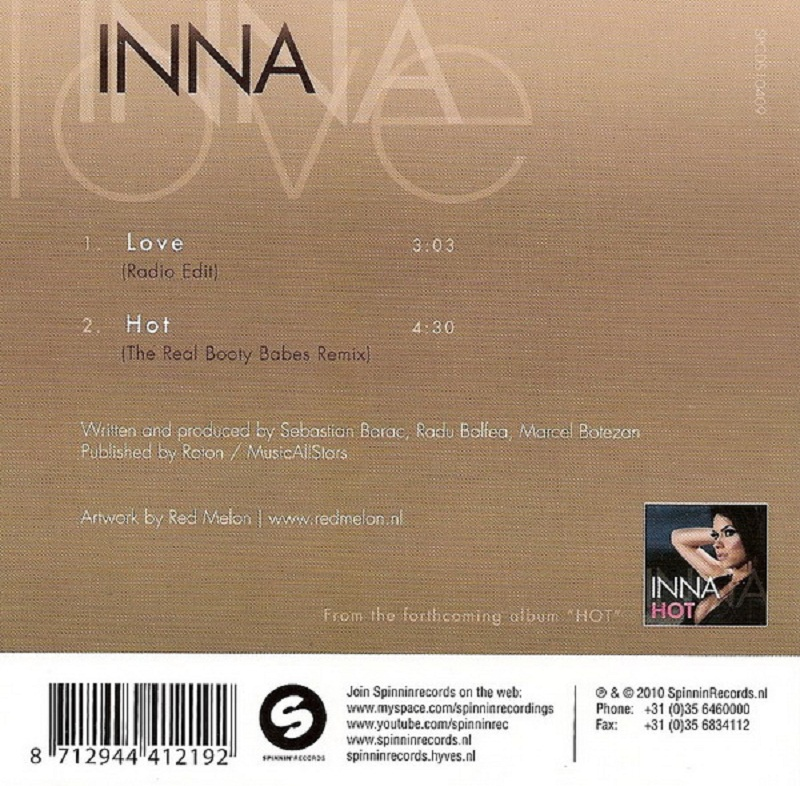 Inna - Love - Back