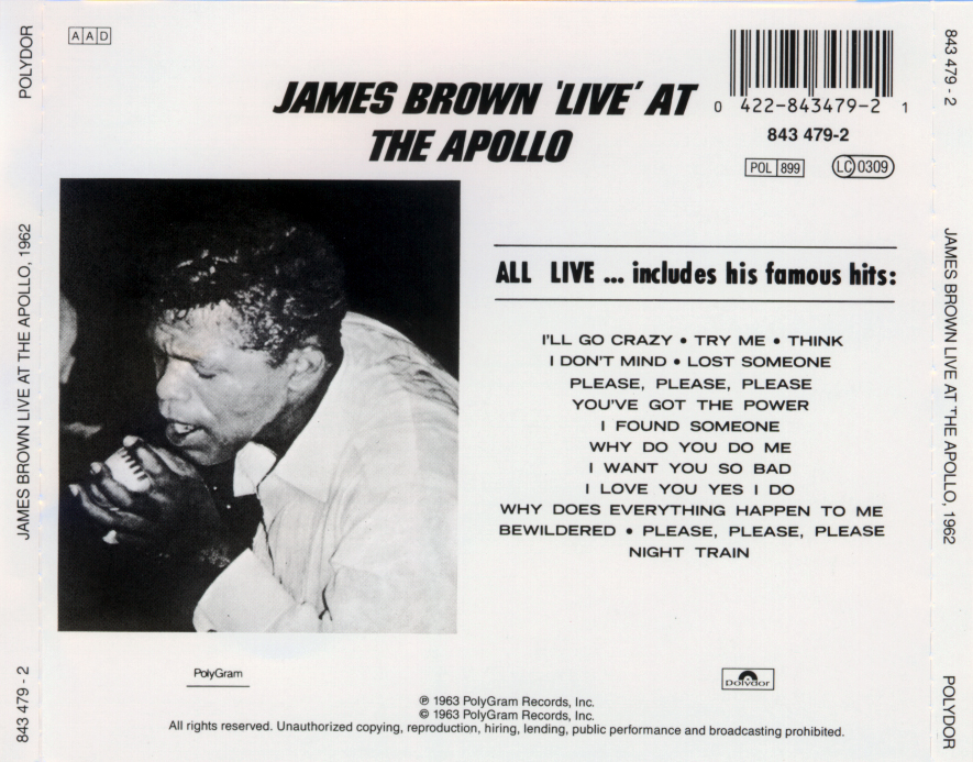 James brown - live at the apollo - back