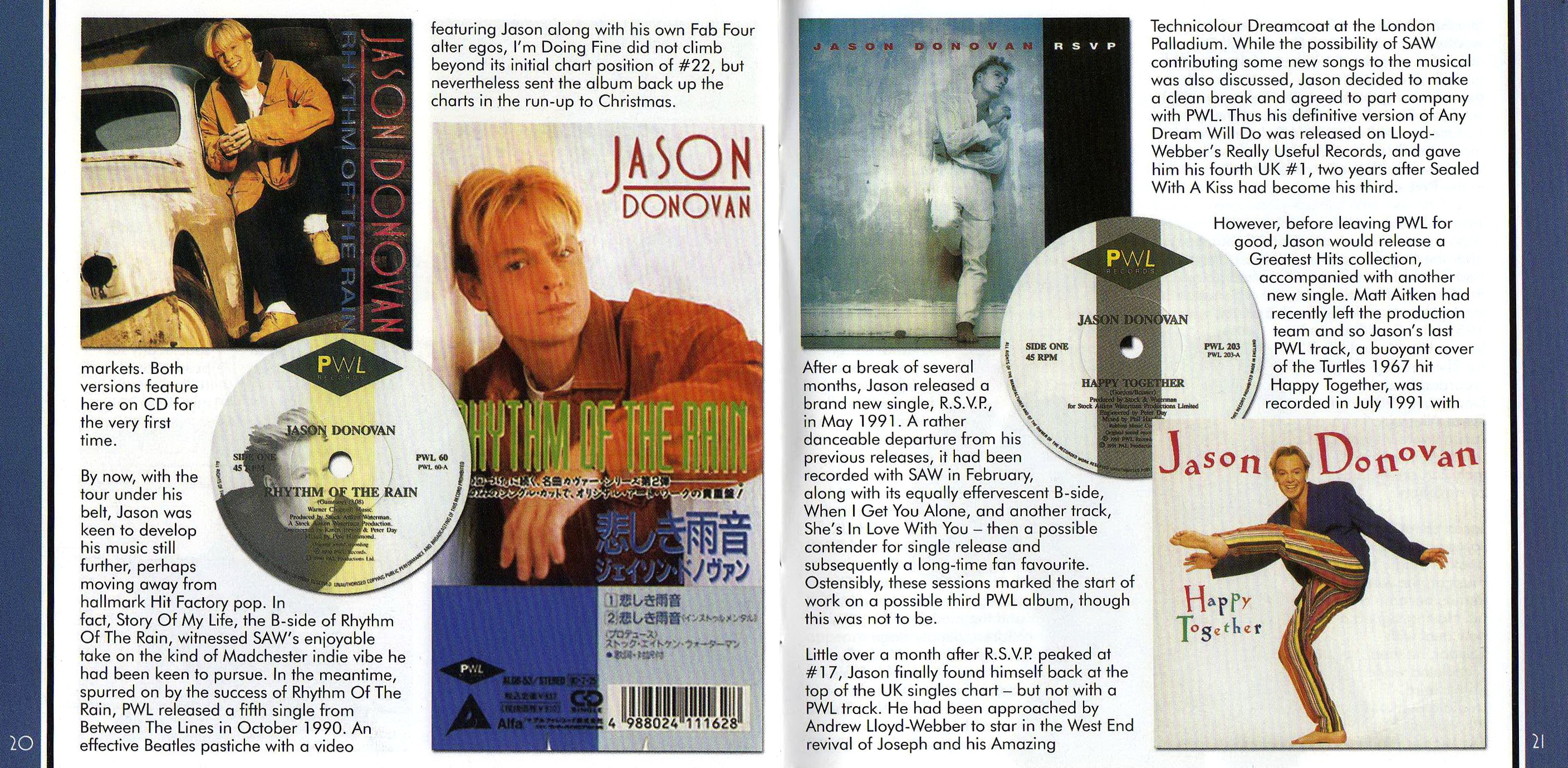 Jason Donovan - Between The Lines - Booklet (10-11)