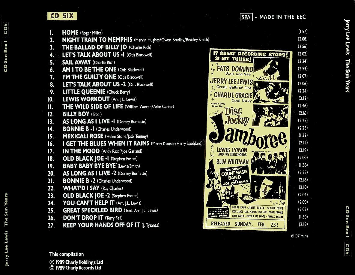 Jerry Lee Lewis - The Sun Years (CD 6) - Back