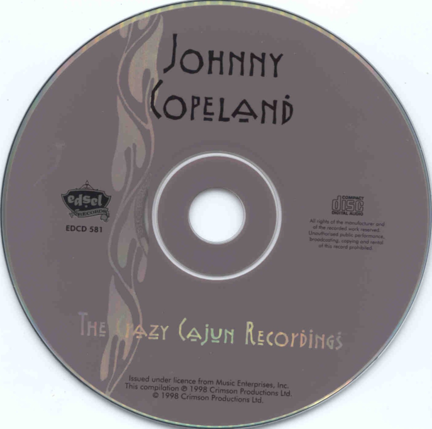 Johnny Copeland - The Crazy Cajun Recordings - CD